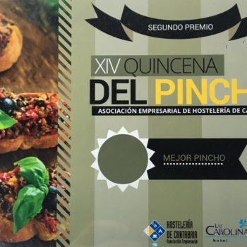2º Premio al Mejor Pincho en la XIV Quincena del Pincho de Cantabria 2016