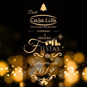 Casa Lita os desea Felices Fiestas y Próspero Año 2019