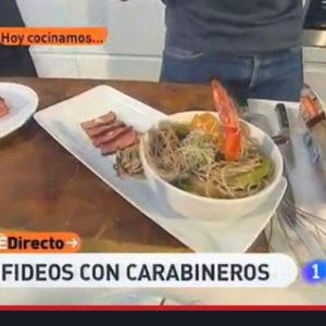Receta: «Fideos con carabineros» – España Directo TVE